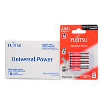 Fujitsu ถ่านอัลคาไลน์ Universal รุ่น LR03(4B)FU Size AAA 1.5V Box 4x10