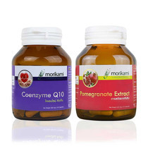 Morikami เซ็ต Coenzyme Q10 + Morikami Pomegranate Extract 30 แคปซูล