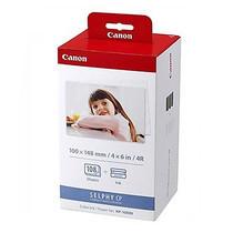 Canon KP108 In For Selphy กระดาษพิมพ์พร้อมหมึกสำหรับ Selphy Photo Printer ขนาด 4 x 6 นิ้ว จำนวน 108 แผ่น