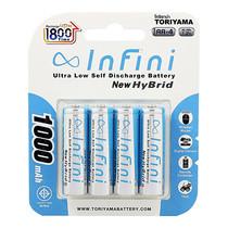ถ่านชาร์จ Infini New Hybrid 1000Mah แพ็ก 4 Recharge Up to 1800 ครั้ง AA