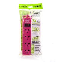 Anitech รางปลั๊กไฟ 4 ช่อง 1 สวิตช์ รุ่น ECO PLUS H100