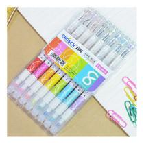 Chosch ปากกาเจล+ไฮไลท์สีปลายด้ามCS-8650(แพ็ค8แท่ง)