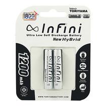 Infini New Hybrid 1200Mah ถ่านชาร์จ แพ็ก 2 Recharge Up to 1800 ครั้ง AAA