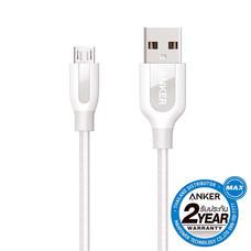 Anker Powerline+ MicroUSB 0.9 ม. White