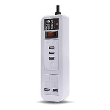 ELECTON สายพ่วง ปลั๊ก ULTRA FAST CHARGE USB X5 1 สวิตช์ 5 เมตร รุ่น EP-A05U5 สีขาว