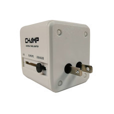 Champ ปลั๊กนอก 1 ทาง + 2 USB ขาพับได้ รุ่น CH-995-2USB
