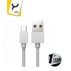 Why Micro USB 1 ม. Metal Tinc Silver