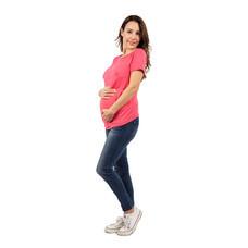 Bambino Materna เสื้อยืดคลุมท้อง สีชมพู