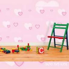 Wallpaper ป้องกันความร้อน ลาย HEART PINK ขนาด 1x5 ม. Pink