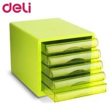 Deli 9777 ตู้เอกสาร 5 ชั้น A4 สีเขียว