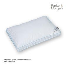 Parker & Morgan Belgravia Goose Feather & Down 90/10 Pillow King ไซส์(นุ่มมาก)