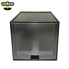 UDEE กล่องลิ้นชักขนาดเล็ก 1 ชั้น (ลิ้นชักใส) ดำ
