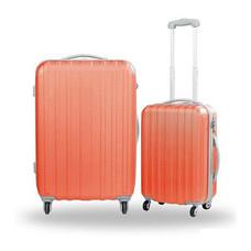 Caggioni แพ็คคู่ กระเป๋าเดินทาง รุ่น 16-SS-5702 สีส้มโอล์ดโรส ขนาด 26 และ 20