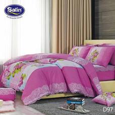 Satin ผ้านวม + ผ้าปูที่นอน ลาย D97 5 ฟุต