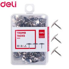 Deli 0022 หมุดปักอเนกประสงค์ 10 มม. (100 ตัว/กล่อง)