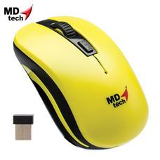 MD-TECH Wireless Optical Mouse RF-134 Yellow/Black