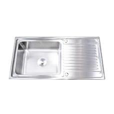 Tecno+ อ่างล้างจาน 1 หลุม 1 ที่พัก รุ่น Sink TNS 1050 SS