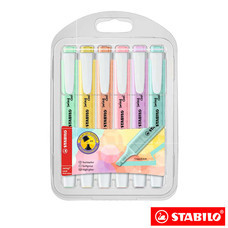 STABILO Swing Cool Pastel in Wallet ปากกาเน้นข้อความ สีพาสเทล (แพ็ก 6 สี)