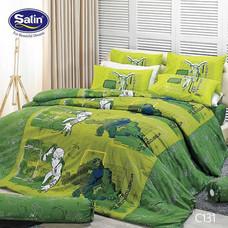 Satin Junior ผ้าปูที่นอน ลาย C131 3.5 ฟุต
