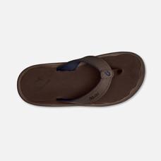 Olukai รองเท้าผู้ชาย 10110-6363 M-OHANADARK WOOD/DARK WOOD 12 US