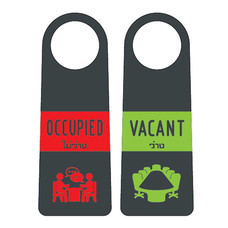 Robin ป้ายแขวนประตู 2 ด้าน OCCUPIED / VACANT (แพ็ก 3 ชิ้น)