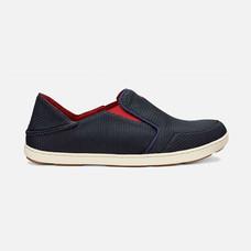 Olukai รองเท้าผู้ชาย 10188-DG43 M-NOHEA MESH CARBON/DEEP RED 7 US