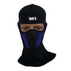 M1 หน้ากากมอเตอร์ไซค์ นักซิ่ง หมวกโม่ง พร้อมกรองฝุ่น รุ่น M2 สีน้ำเงิน