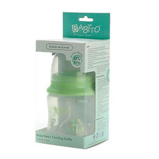 BABITO ขวดนมชนิดคอกว้างขนาด 5 ออนซ์ BPA-FREE แพ็กคู่