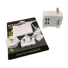 Champ ปลั๊กนอก 4 USB เปลี่ยนหัว 4IN1 รุ่น CH922-4USB