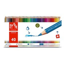 Caran D'Ache สีไม้ระบายน้ำ Fancolor 40 สี กล่องโลหะ