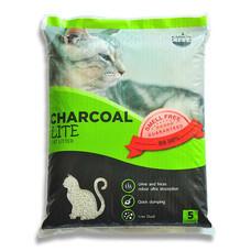 Charcoal Sand Lite ทรายแมว สีเขียว ขนาด 5 ลิตร