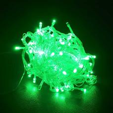 ไฟ LED 100 หัว สายใส 1.5 ยาว 10 ม. กระพริบ สีเขียว [LED-G1]