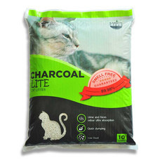 Charcoal Sand Lite ทรายแมว สีเขียว 10 ลิตร