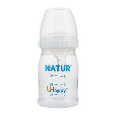 NATUR ขวดนมปากกว้าง Uhappy 4 ออนซ์