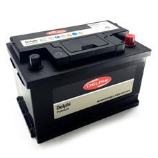 DELPHI แบตเตอรี่ สีดำ รุ่น DIN75L-SMF