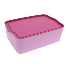 Q Line กล่องพลาสติก-สีชมพู PL-002 (3 ชิ้น)