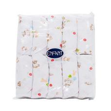 ENFANT ผ้าอ้อม พิมพ์ลาย สีชมพู แพ็ก 10 ผืน