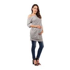 Bambino Materna ชุดคลุมท้องและให้นม สีเทา