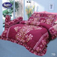 Satin ผ้านวม + ผ้าปูที่นอน ลาย 719 6 ฟุต