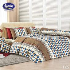 Satin ผ้านวม + ผ้าปูที่นอน ลาย D85 6 ฟุต