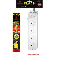 Flash ปลั๊ก 4 ช่อง 1 สวิทซ์ สายไฟ 5 ม. รุ่น CF-141/5m