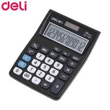 Deli 1122 เครื่องคิดเลขตั้งโต๊ะ 12 หลัก สีดำ