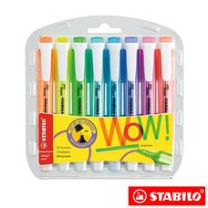 STABILO Swing Cool ชุดปากกาเน้นข้อความ Swing Cool in Wallet (แพ็ก 8 สี)