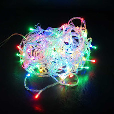 ไฟ LED 100 หัว สายใส 1.5 ยาว 10 ม. กระพริบ สลับสี [LED-M1]
