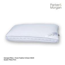 Parker & Morgan Georgia Duck Feather & Down 80/20 Pillow Queen ไซส์(นุ่มแน่น)