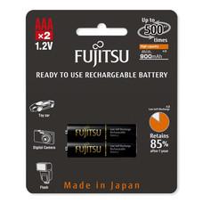 Fujitsu ถ่านชาร์จ HR-4UTHCEX(2B) ขนาด AAA แพ็ก 2 ก้อน Black Higt Capacity min 900mAh.