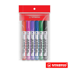 STABILO Plan 641 ปากกาไวท์บอร์ด หัวกลม (แพ็ก 6 ด้าม)