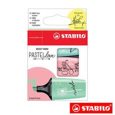 STABILO BossMini Pastel Love ชุดปากกาเน้นข้อความ 07/03-57 (แพ็ก 3 สี)