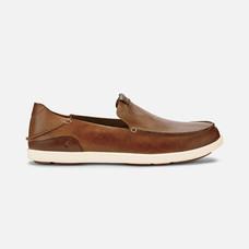 Olukai รองเท้าผู้ชาย 10379-FX19 M-NALUKAI SLIP-ON FOX/BONE 8 US