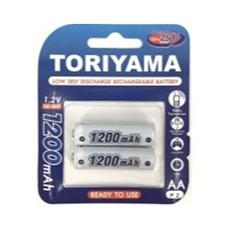 Toriyama ถ่านชาร์จ รุ่น AA1200 แพ็ก 2
